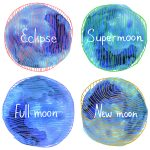Full Moon, Super Moon, Eclipse, New Moon