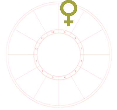 Venus in the Houses of the Natal Chart