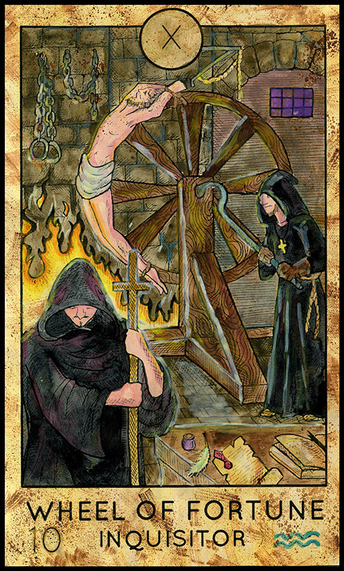 The Wheel of Fortune - Major Arcana #10 - Tarot Card