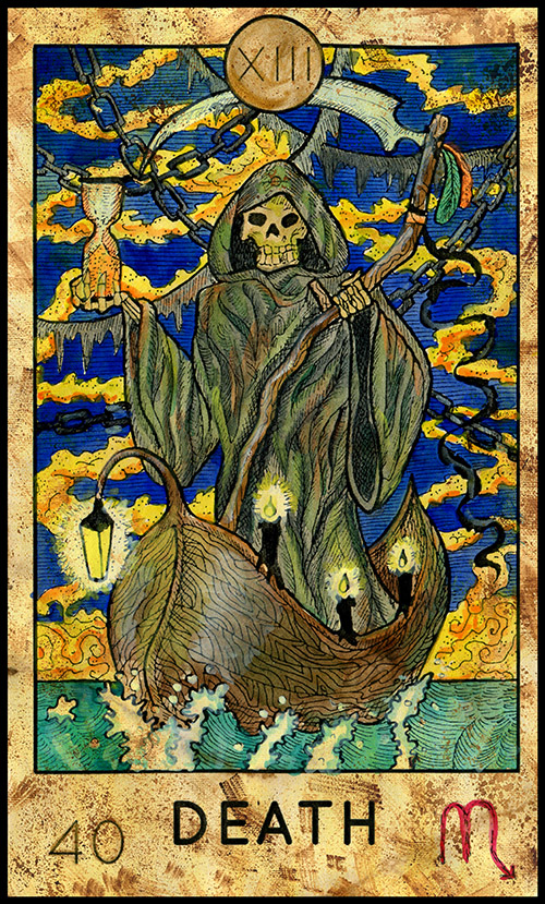 Major Arcana #13 - Death - Fantasy Tarot Card Deck