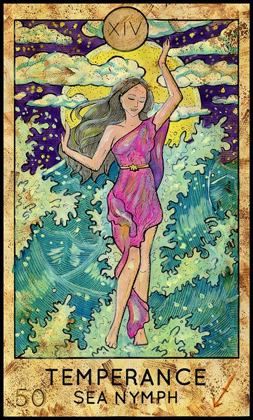 Major Arcana (#14) Temperance Tarot Card - Fantasy Deck