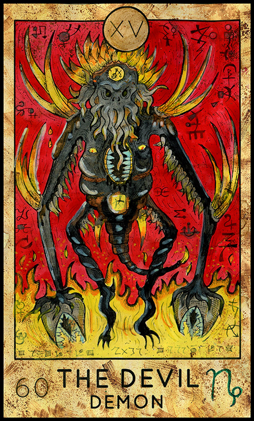 Major Arcana #15 - The Devil - Tarot Card Deck - Fantasy