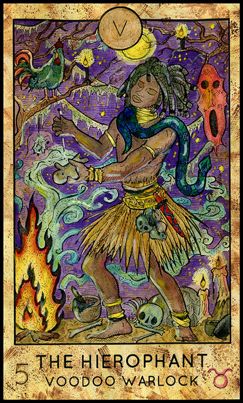 Major Arcana #5 - The Hierophant - Fantasy Deck Tarot Card