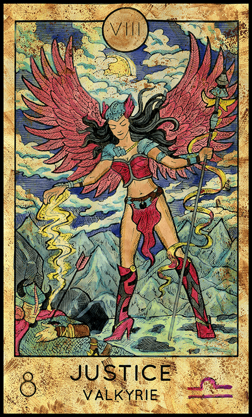 Major Arcana #8 - Justice - Tarot Card from the Fantasy Deck