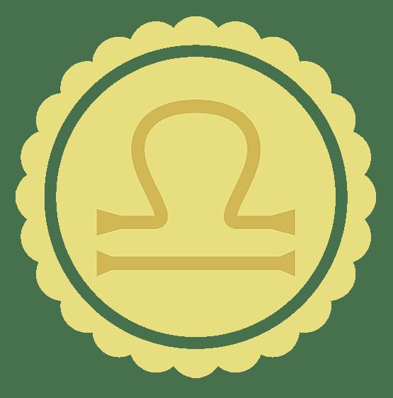 the libra symbol or glyph